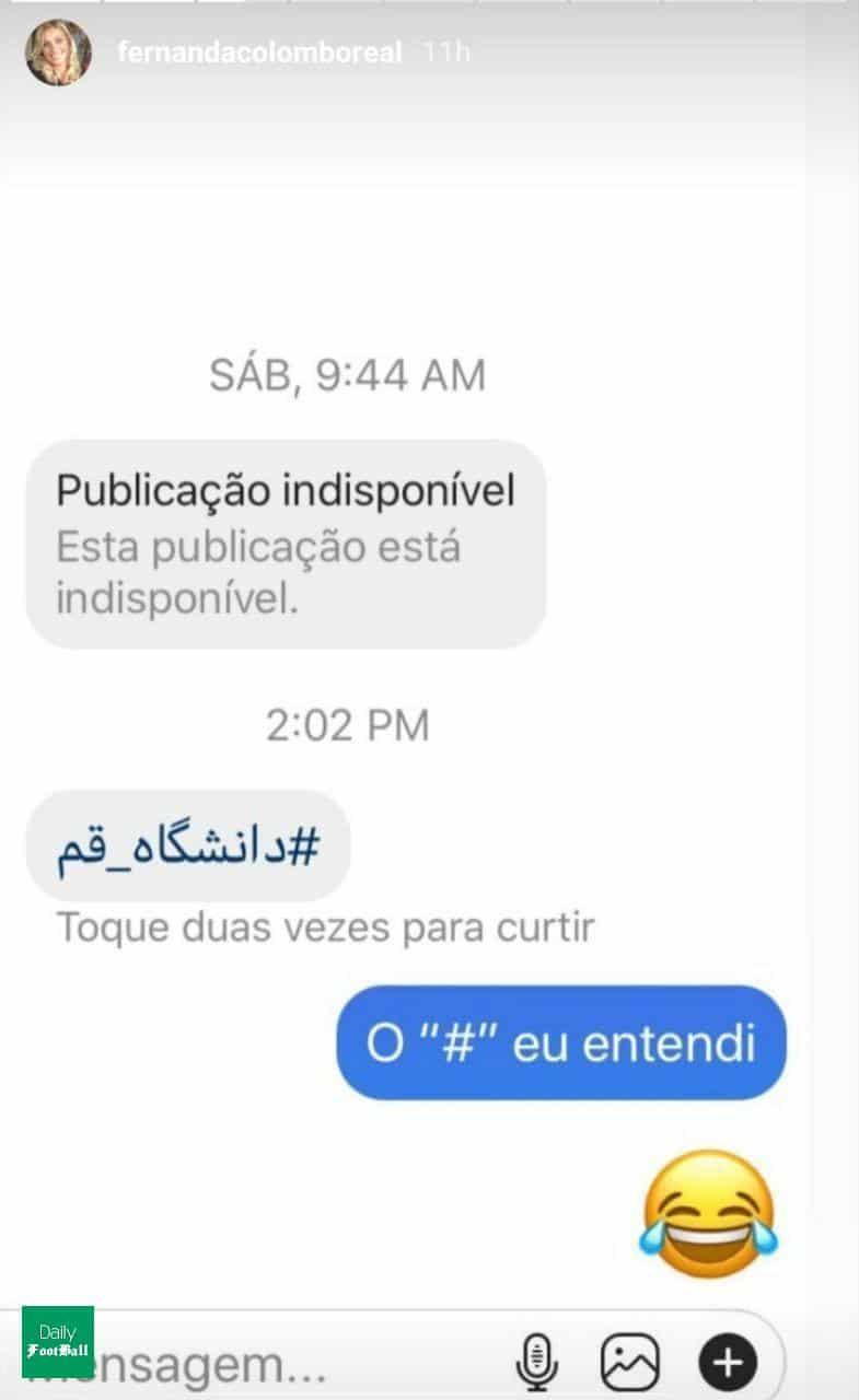 استوری اینستاگرام «فرناندا کلمبو» داور زن برزیلی از دانشگاه قم!