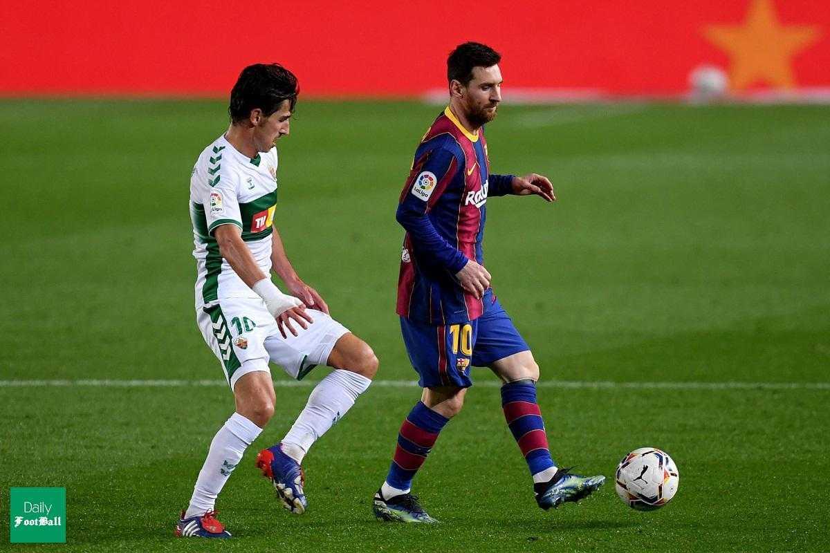 نتیجه بازی بارسلونا و الچه| پیروزی بارسا با درخشش لیونل مسی