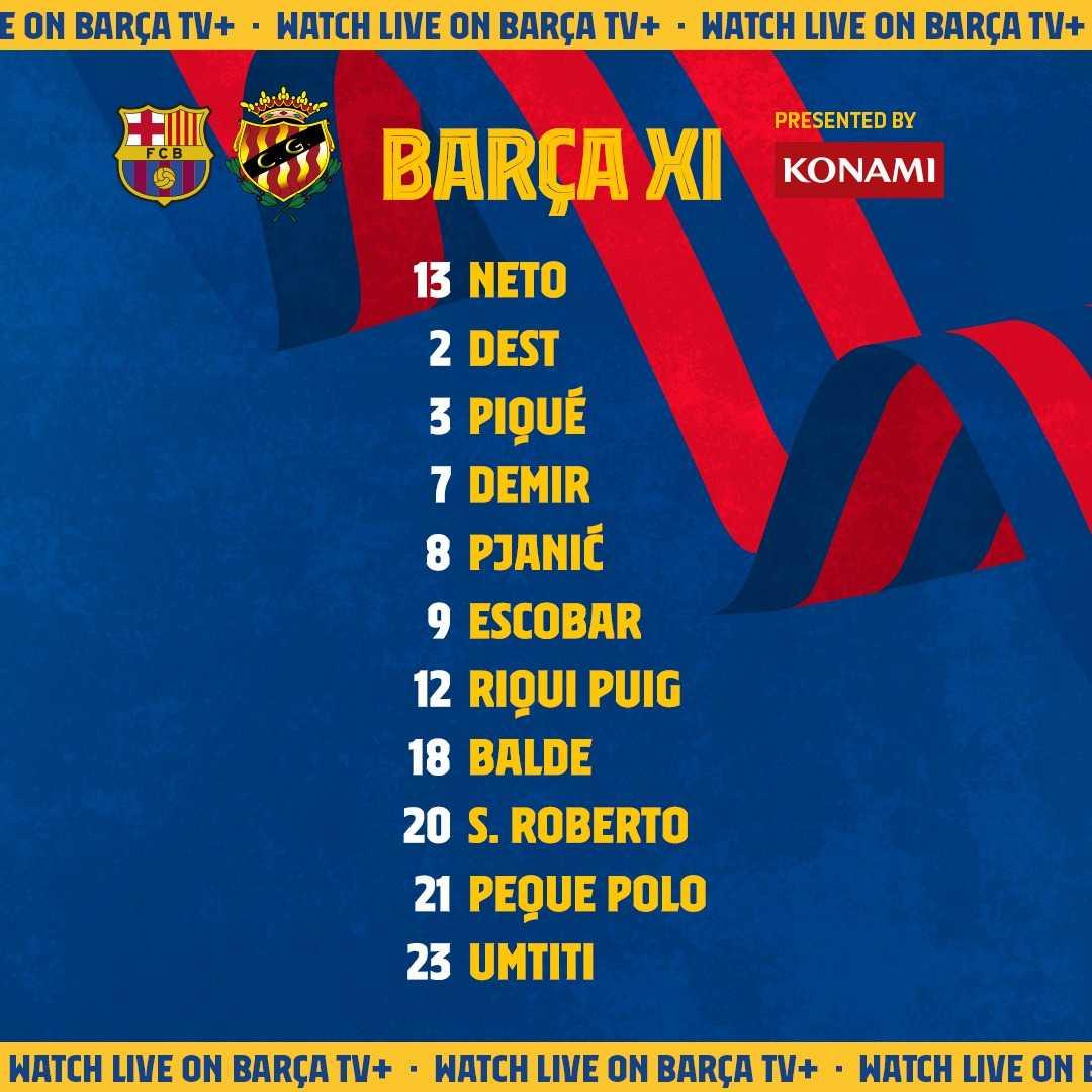 ترکیب بارسلونا مقابل خیمناستیک برای بازی امشب 30 تیر 1400